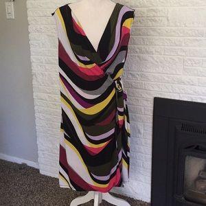 Dana Buchman faux wrap dress